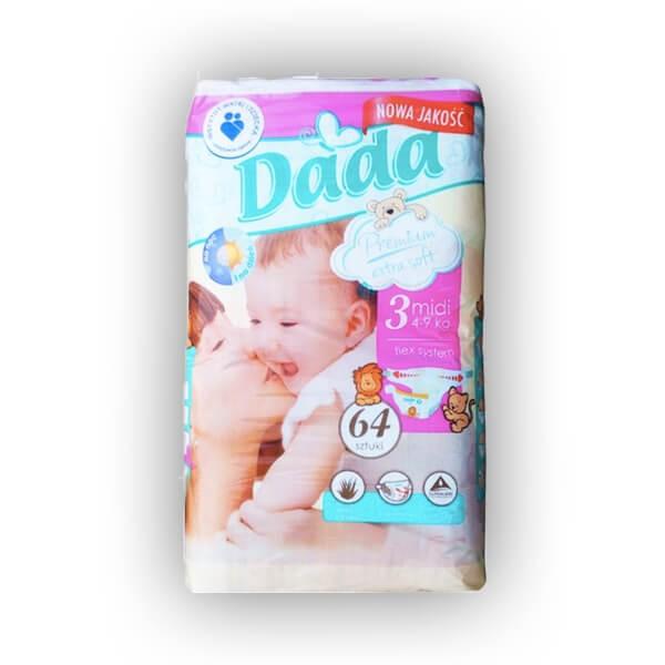 Подгузники ДАДА (Dada) Extra Soft 3 midi (4-9 кг) 64 шт