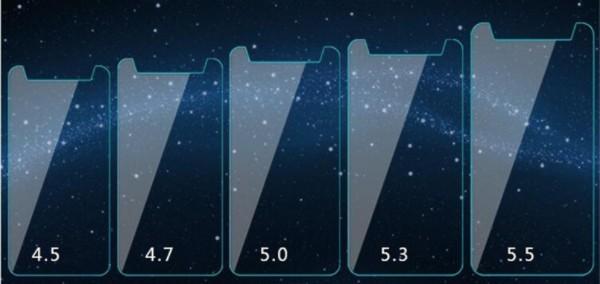 """Защитные стекла для Glass смартфонов 4.5"""", 4.7"""", 5.0"""" , 5.5"""" , 6.0"""""""