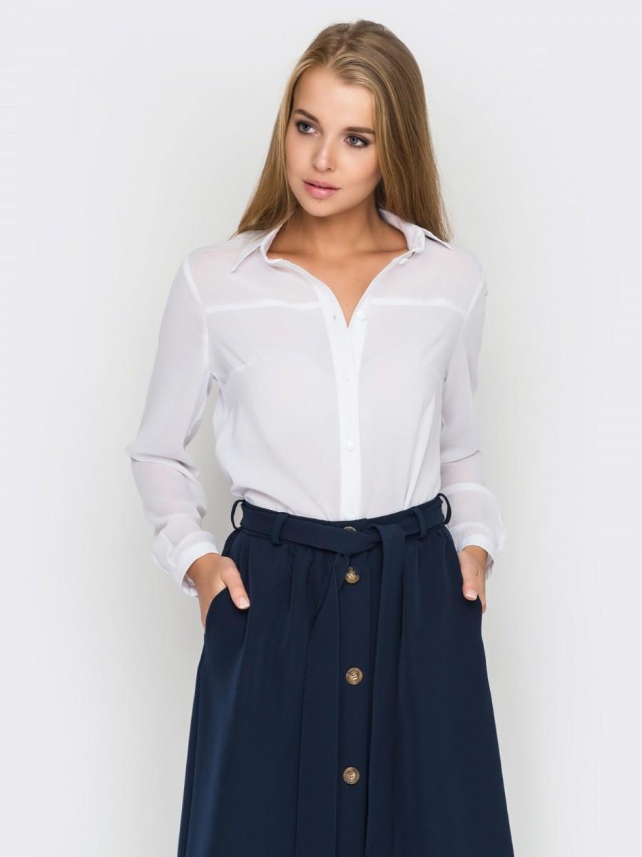 Белая блузка размер 48