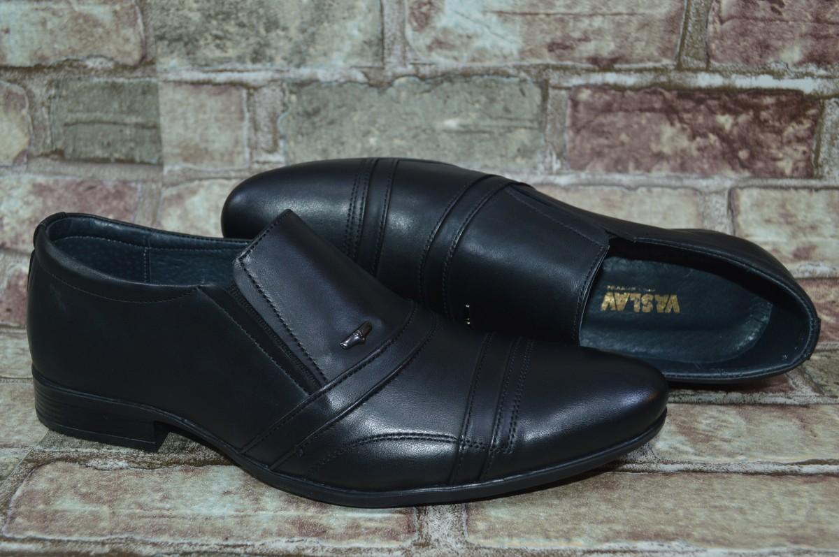 Акция! Мужские классические туфли с натуральной кожи Vaslav Васлав