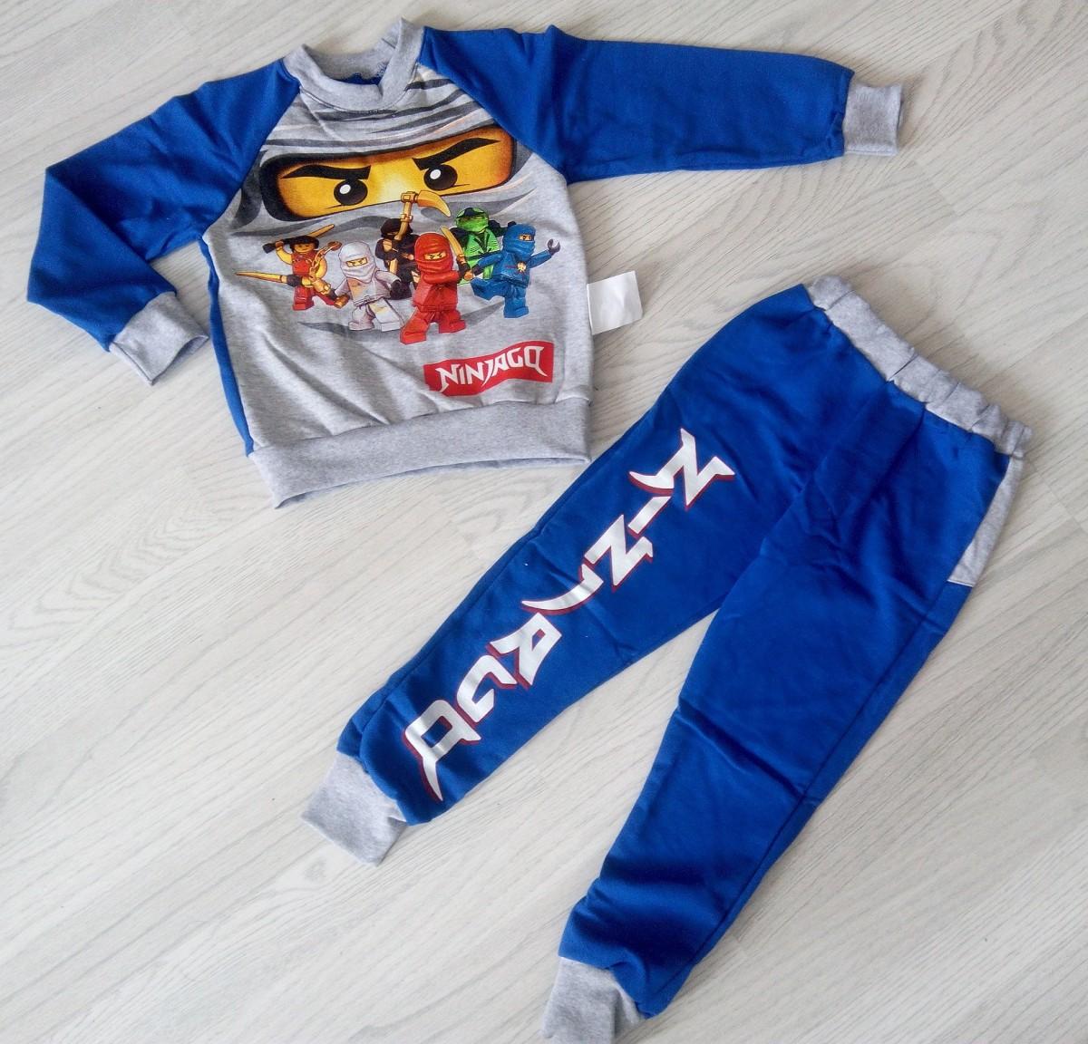 теплый костюм для детского сада и дома ниндзяго для мальчика на байке