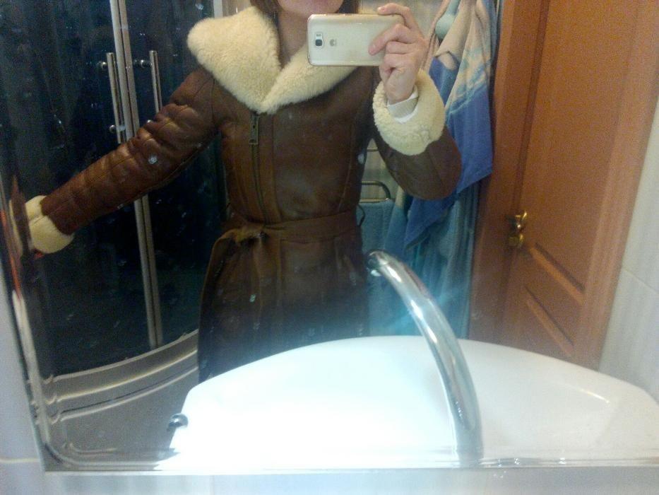 НОВАЯ зимняя дубленка женская теплая Роксан