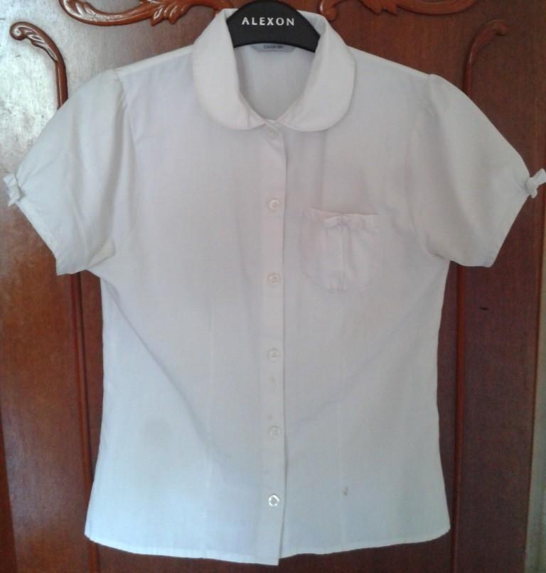 Белая школьная рубашка George для девочки 11-12 лет.