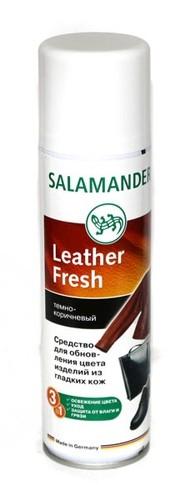 Краска- аэрозоль для гладкой кожи тёмно- коричневого цвета Salamander