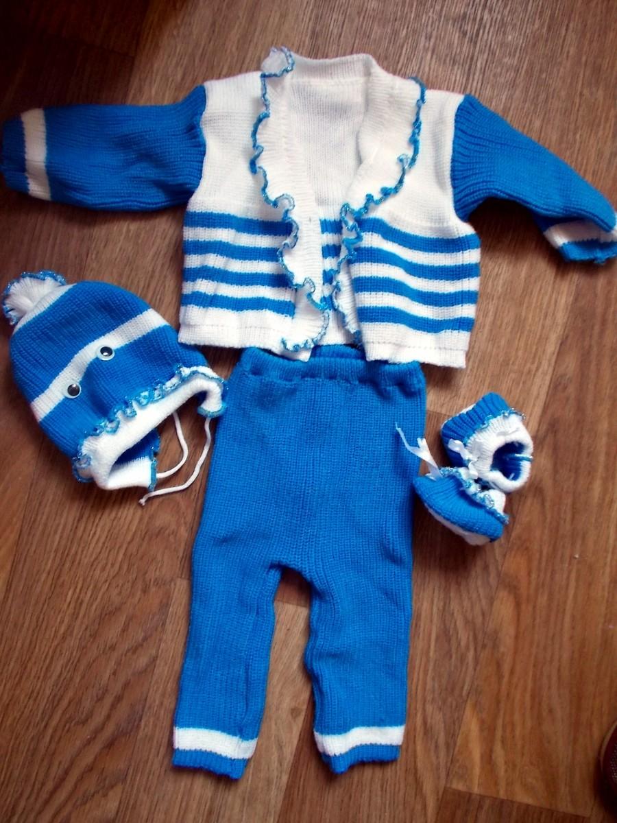 Детский нарядный костюм (комплект) 0-3 мес. Идеальное состояние