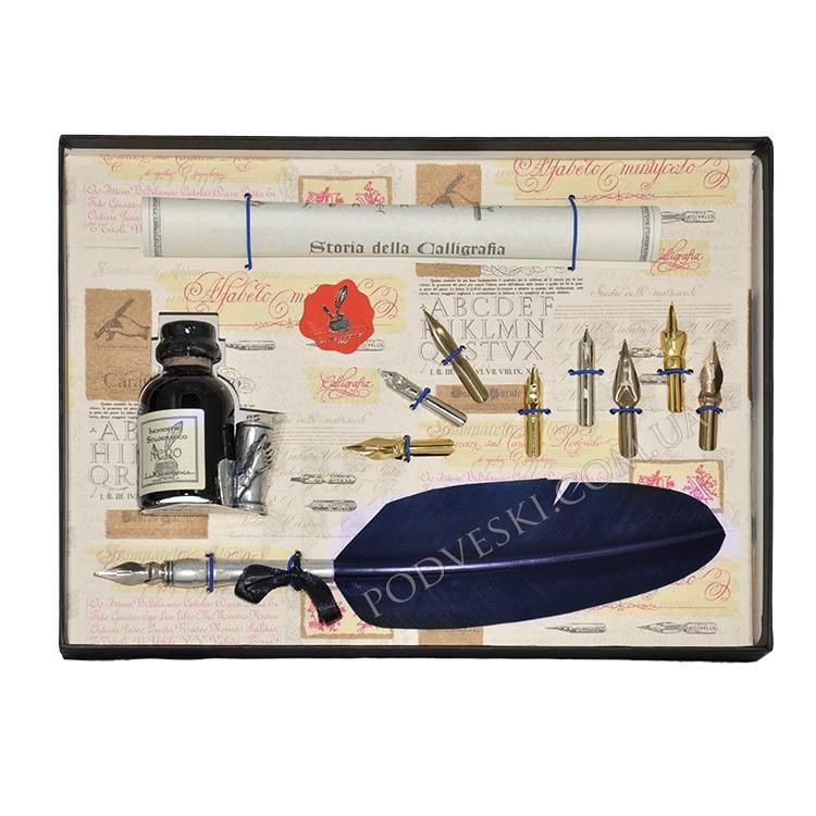 Набор для каллиграфии 530-36 т.-синее перо
