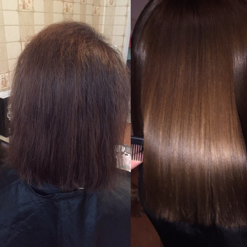 Кератиновое выпрямление, ботокс, полировка и шлифовка волос