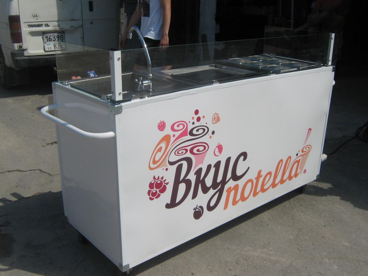 Торговая тележка для мороженого (жаренное мороженное)