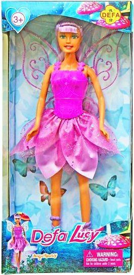 Кукла DEFA 8324 фея с крыльями, в коробке., 15-32-5,5 см.