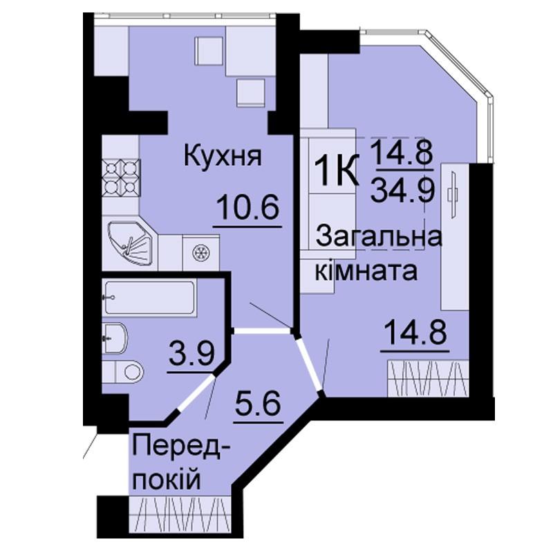 светлая,просторная и уютная квартирка в новом доме!!!