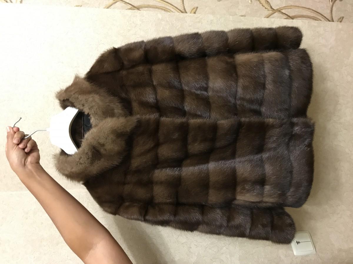 Продам норковую шубу saga furs соболь
