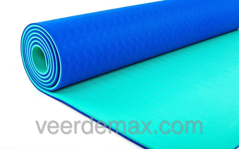 Коврик для йоги и фитнеса Yoga mat 2-х слойный TPE+TC 6mm FI-5172-8