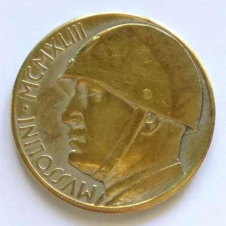 Монетовидный жетон, Муссолини, редкий.