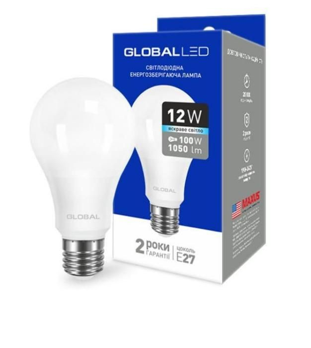 LED Лампа GLOBAL A60 12W E27 (1-GBL-166)