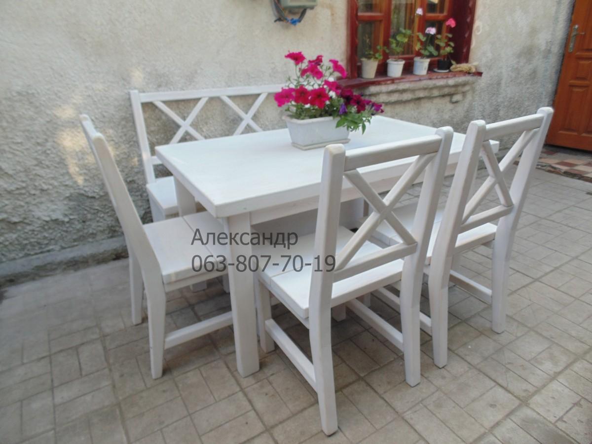 Деревянный кухонный комплект №1 ( стол и стулья ) Кухонная мебель