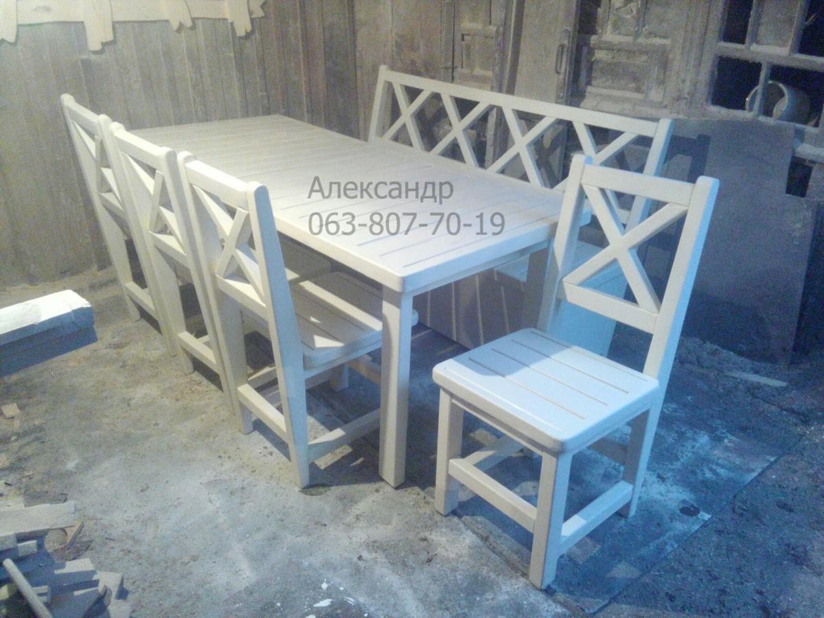 Деревянный кухонный комплект №5 ( стол и стулья ) Кухонная мебель