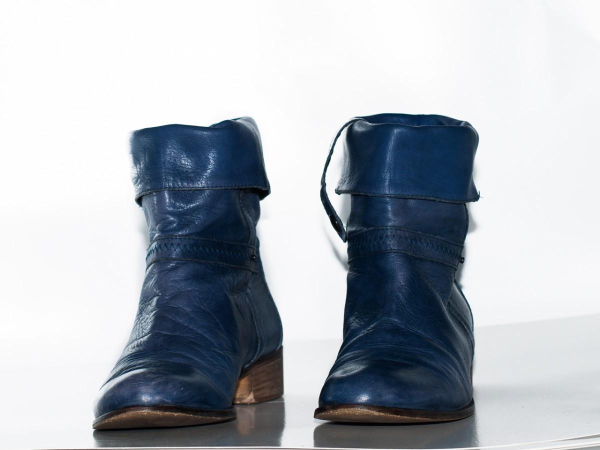 Женские полу сапоги Manfield женская обувь осень