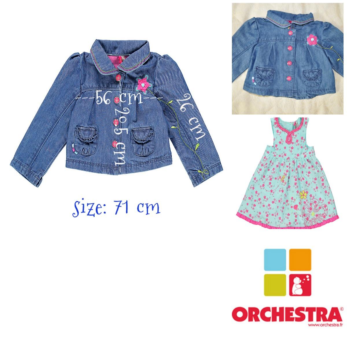 Джинсовый пиджак для девочки 9 мес. марки Orchestra