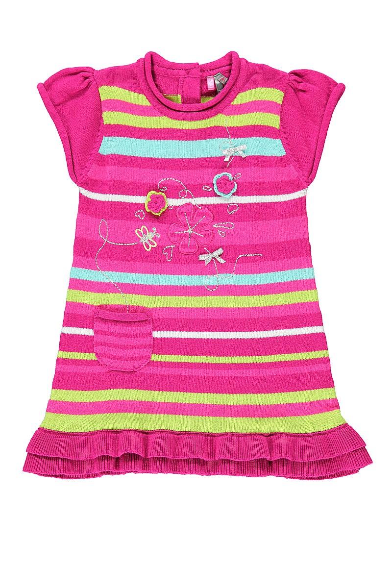 Платье розовое, вязаное известной французской марки Orchestra