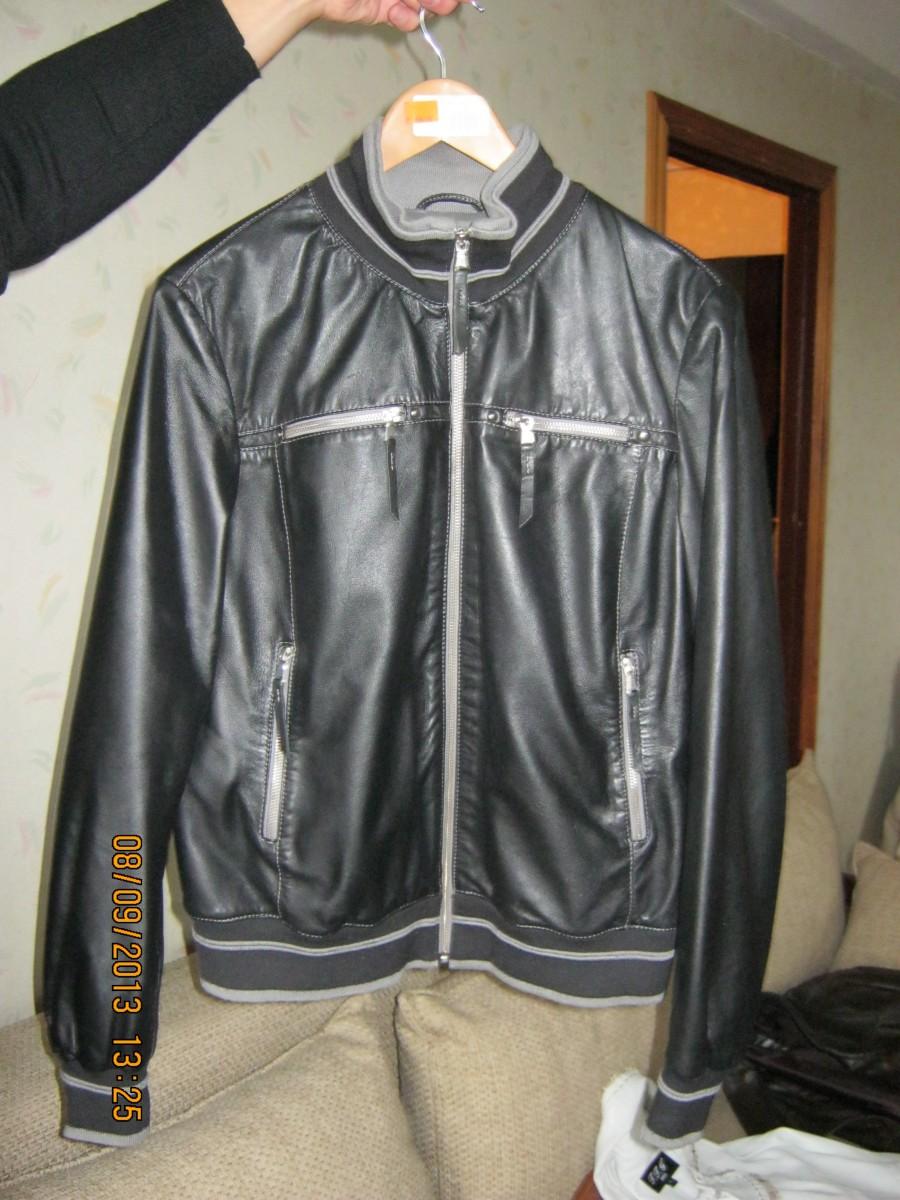 Кожаная куртка из элитной кожи,Италия