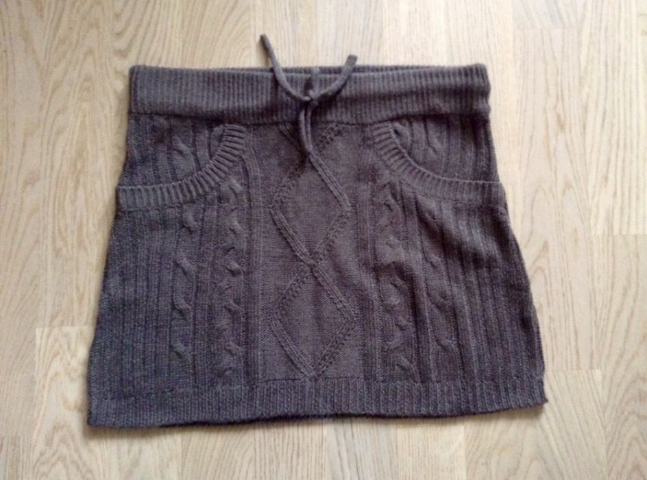 Вязанная мини юбка