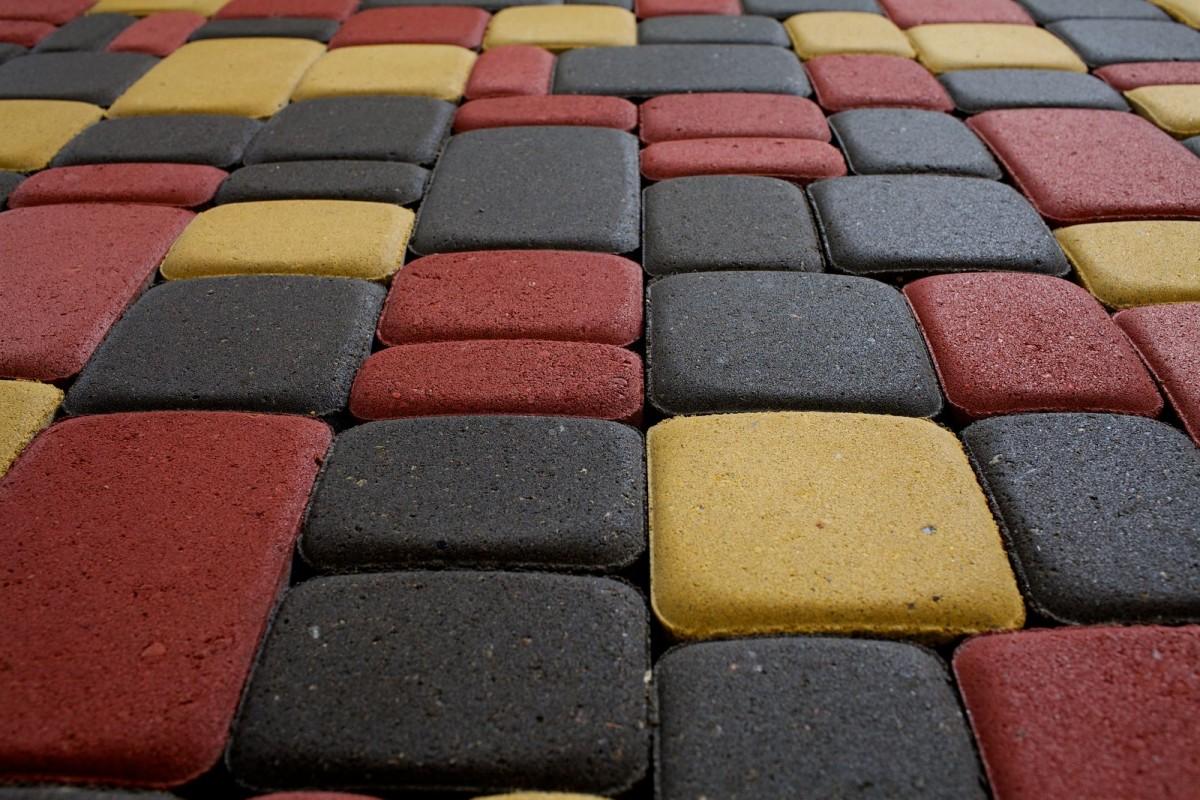 Тротуарная плитка, Прессованная плитка