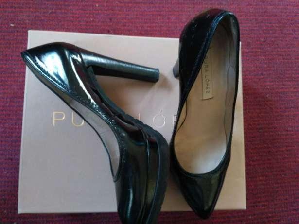 Pura Lopez черные туфли 36 размер