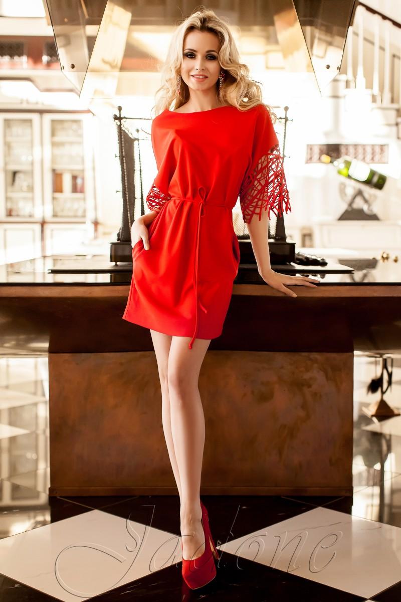 Платье Jadone красное размер L