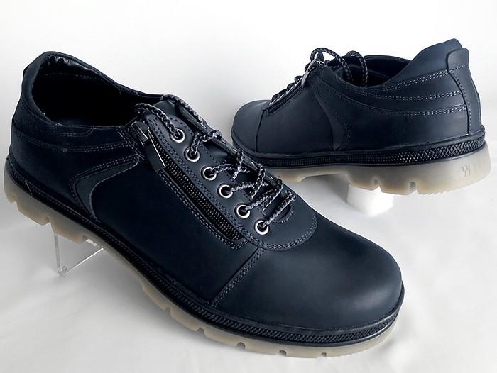 Полу-ботинки осенние мужские из натур. кожи 40-44р.