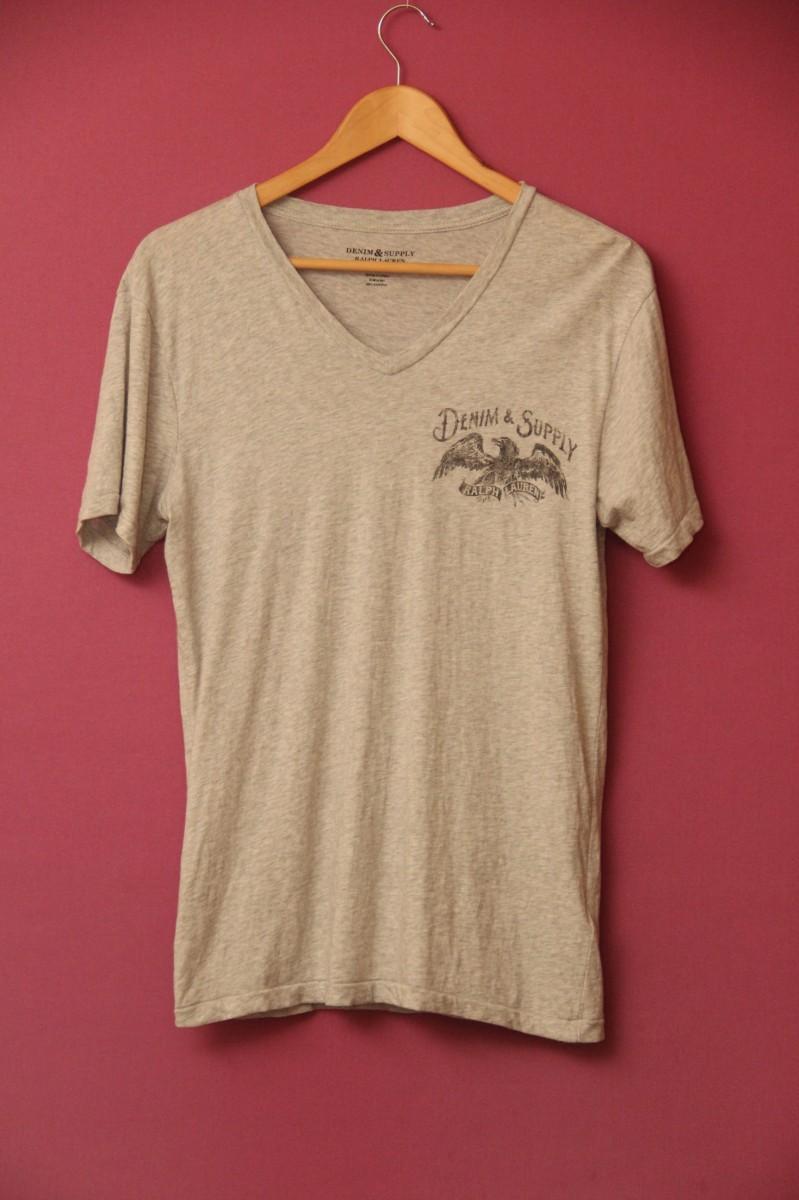Polo Ralph Lauren футболка меланж V-образный вырез. S-M оригинал
