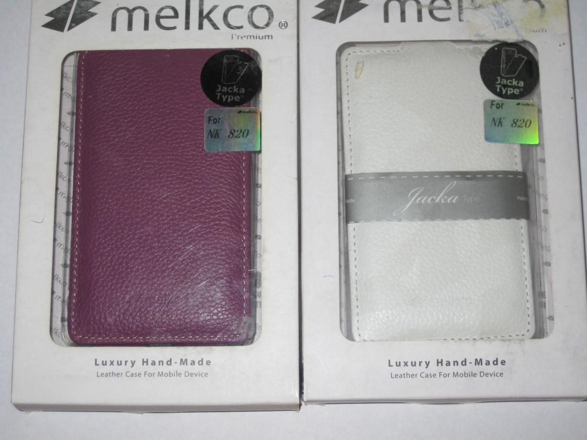 Чехол флип Melkco Mokia Lumia 820- белый/сиреневый