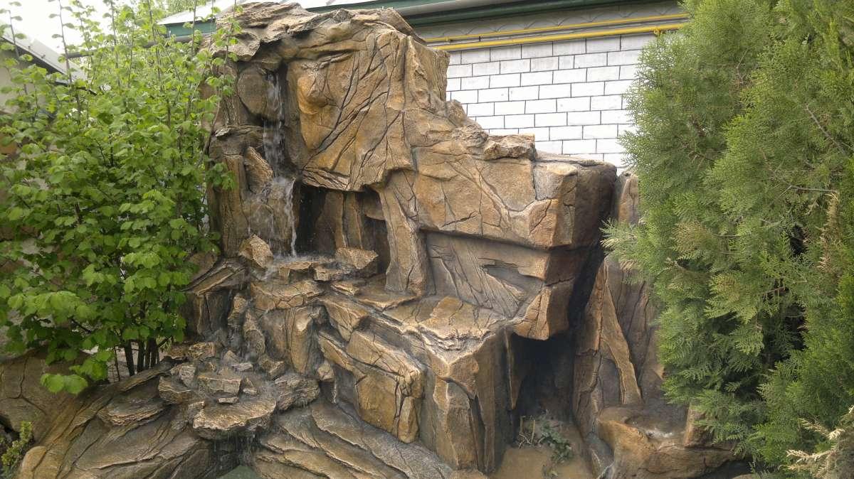 Водопады, скалы декоративные