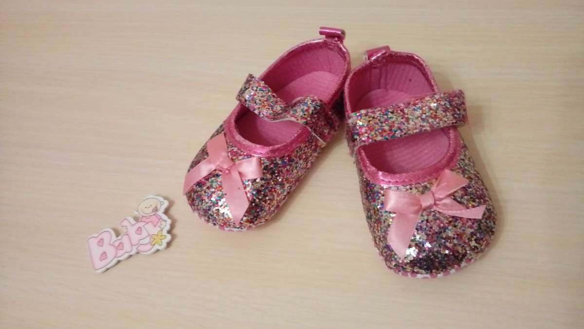Пинетки-туфельки блестящие