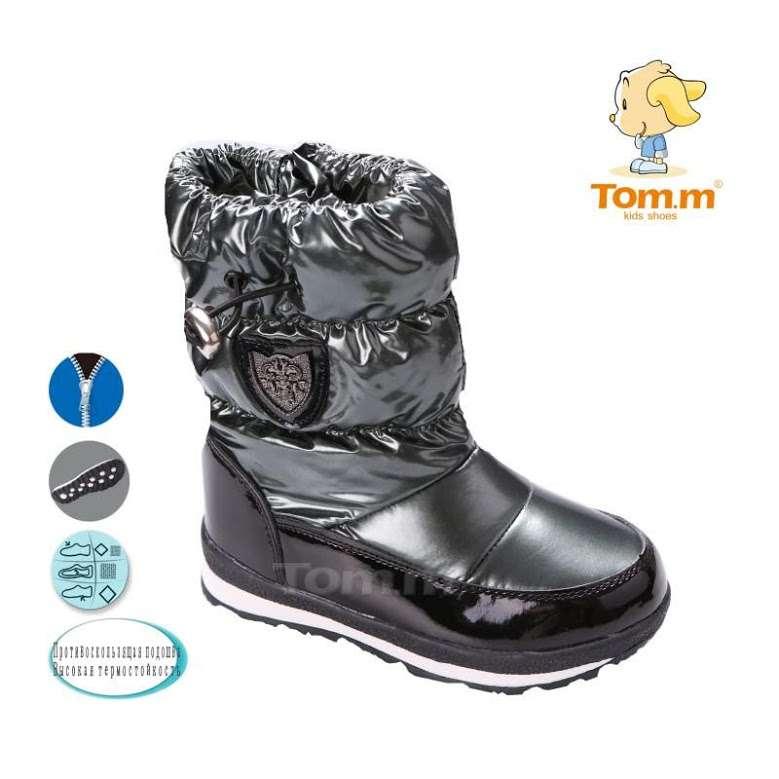 Сноубутсы Tom.m 1661D черный-темное серебро