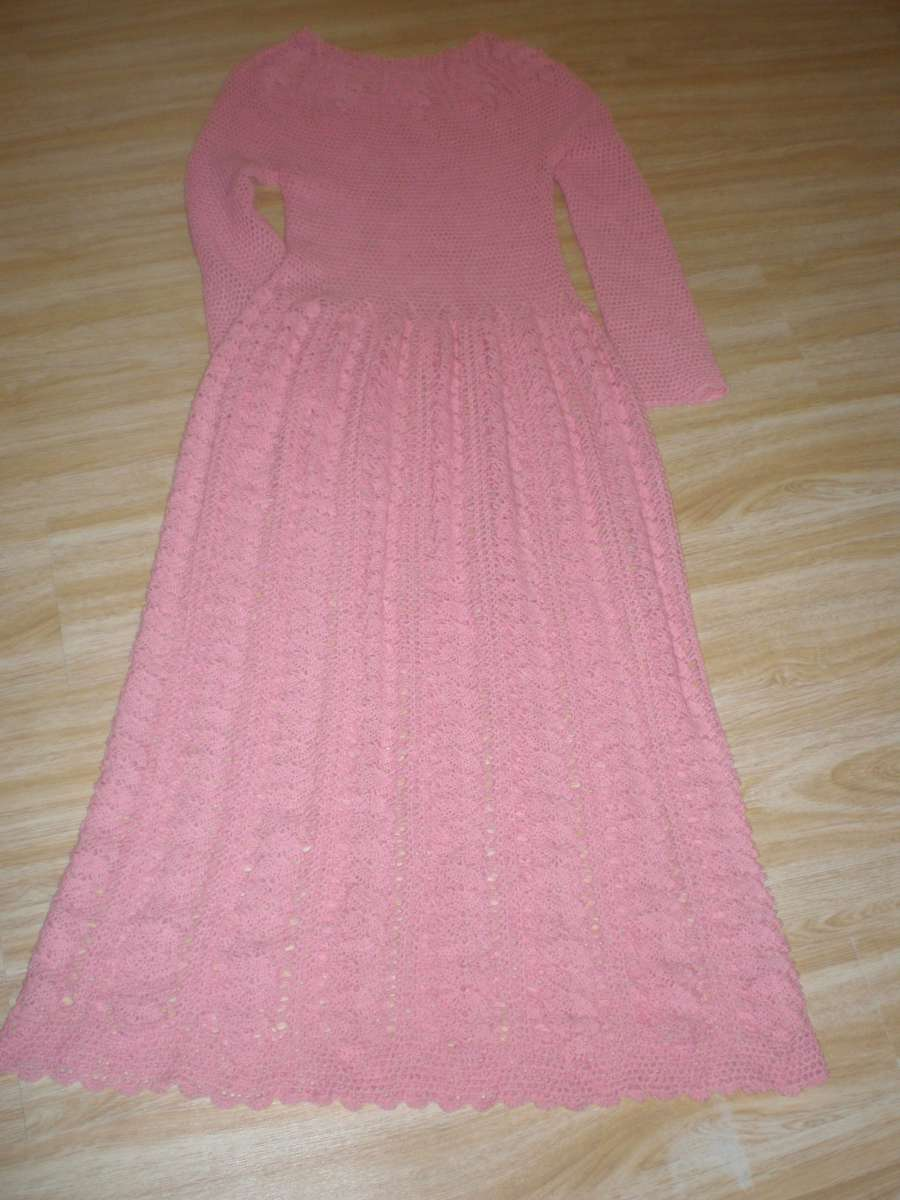 Платье ручной работы длинное в пол