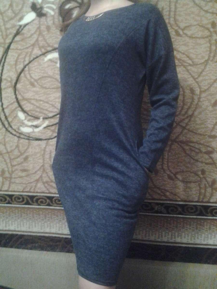 Новое платье из ангоры (трикотаж)