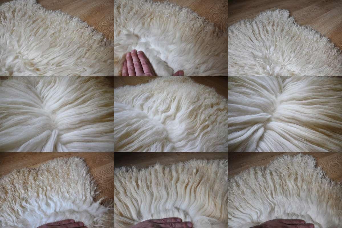Волосы кукольные натуральные, Шкуры овечьи
