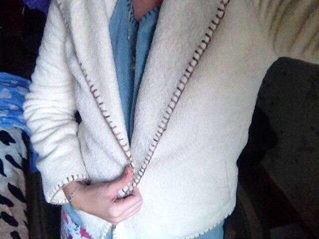 Пальто жакет из ламы