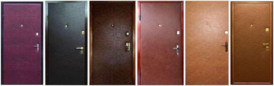 Перетяжка дверей кожзаменителем ,врезка замка