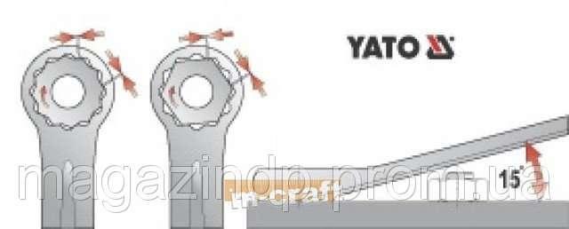 набор ключей комбинированных 25st yato yt-0075