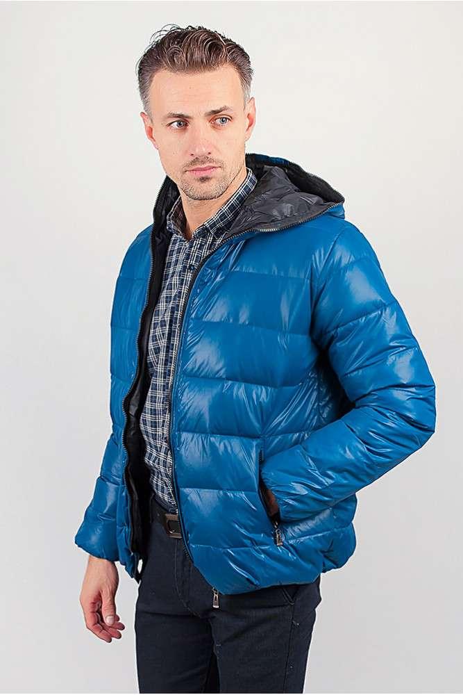 Куртка мужская теплая на синтепоне, с капюшоном