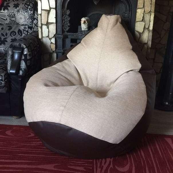 Кресло мешок груша двухцветное недорого