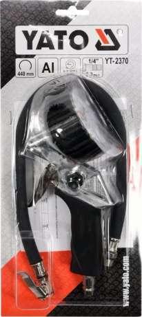 Пистолет для подкачки колес с манометром YATO YT-2370
