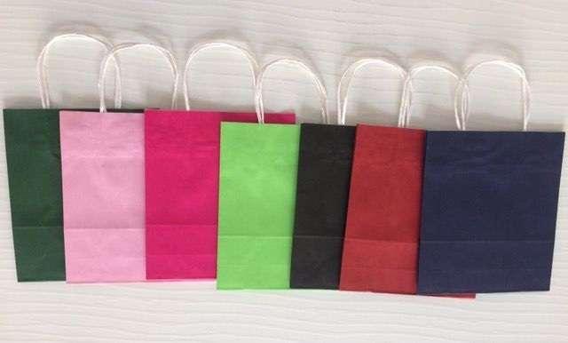 Крафт пакеты.Цветные пакеты.