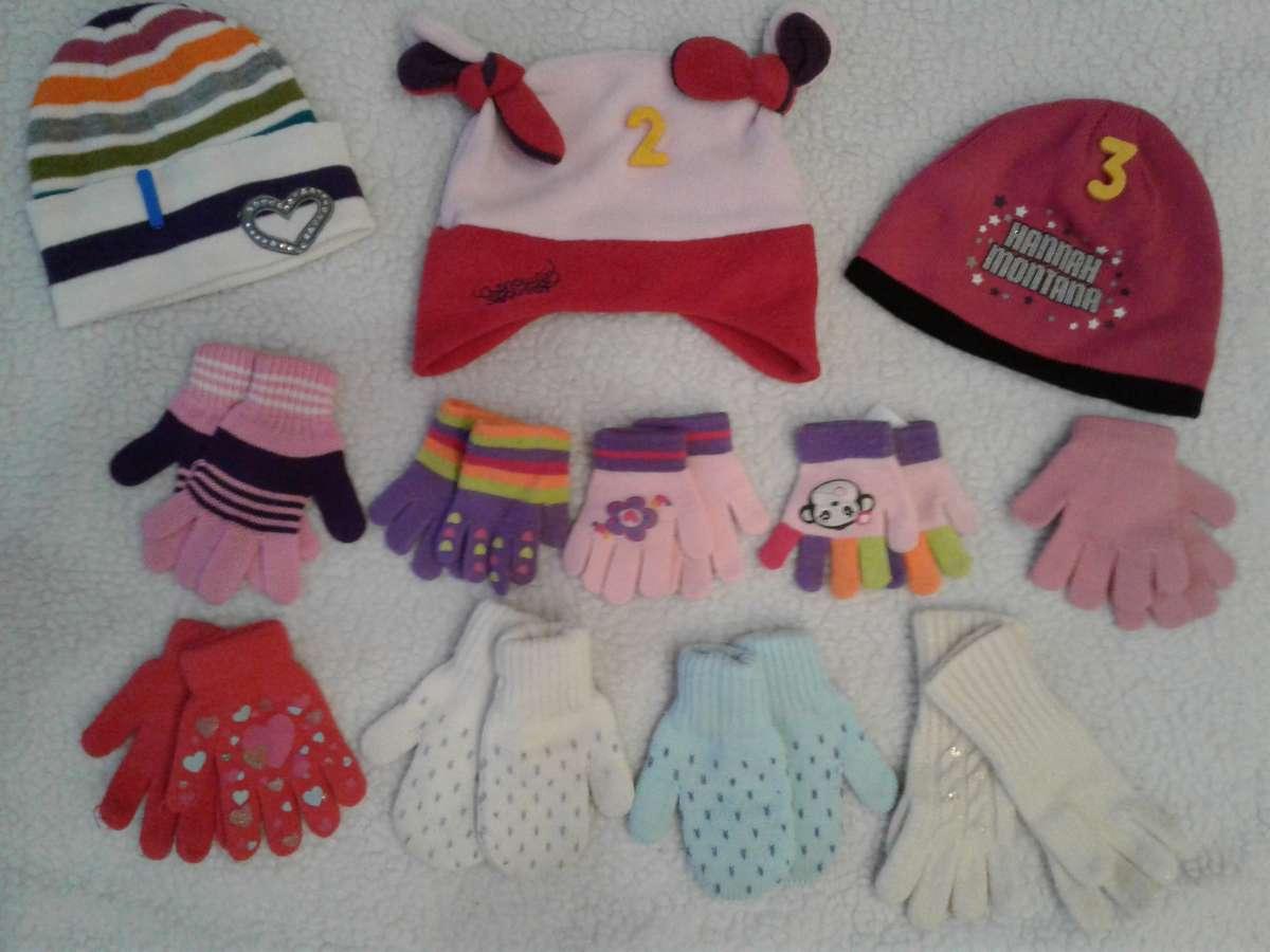 Шапки + перчатки для девочки