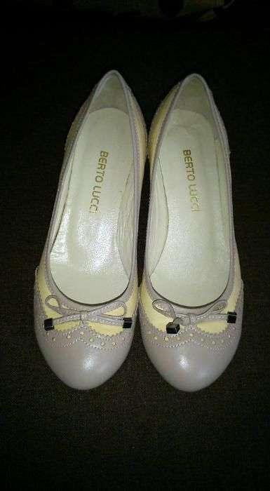 Продам новые итальянские кожаные балетки на танкетке