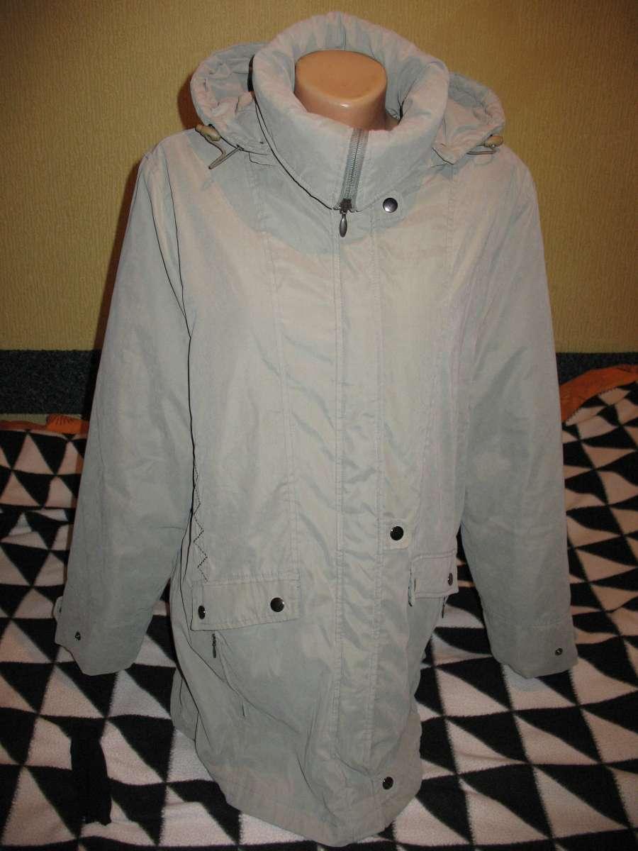 Куртка утеплённая,на синтепоне,со съёмным капюшоном,р.48.