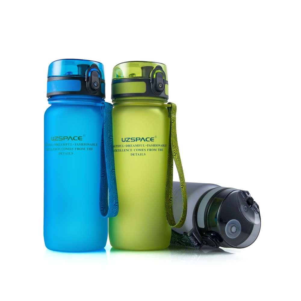 Спортивная бутылка для воды UZSPACE 650 мл синяя (3037)