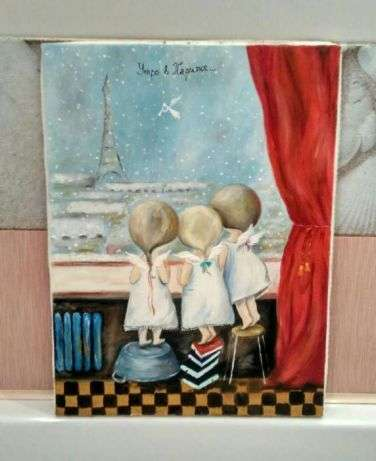 Картина маслом копия картины Е. Гапчинской