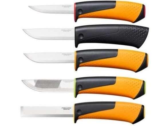 Строительные ножи с точилкой Fiskars (Фискрас) бесплатная доставка